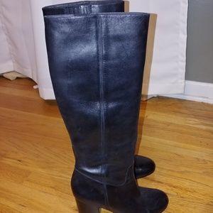 via spiga black boots size 9